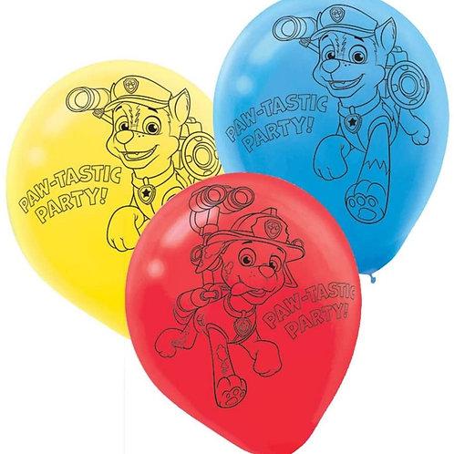 "Paw Patrol 12"" Balloons"