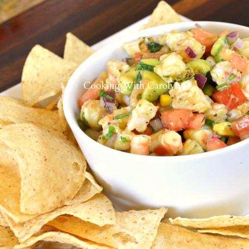 FRESH SHRIMP SALSA RECIPE |Cooking With carolyn