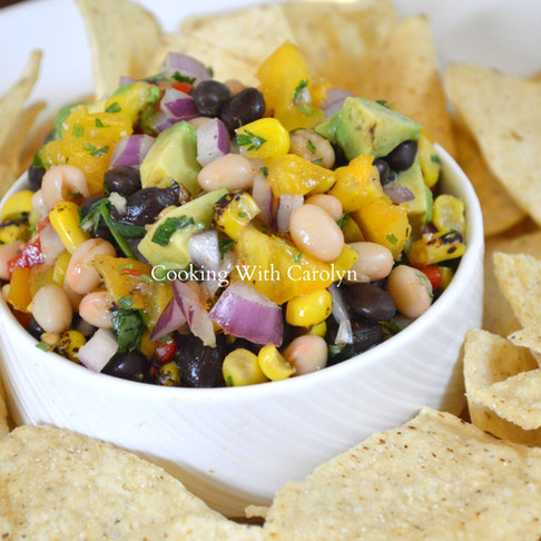 BLACK AND WHITE BEAN SALSA RECIPE |Cooking With Carolyn