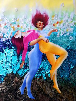 underwater dance laura aubert art