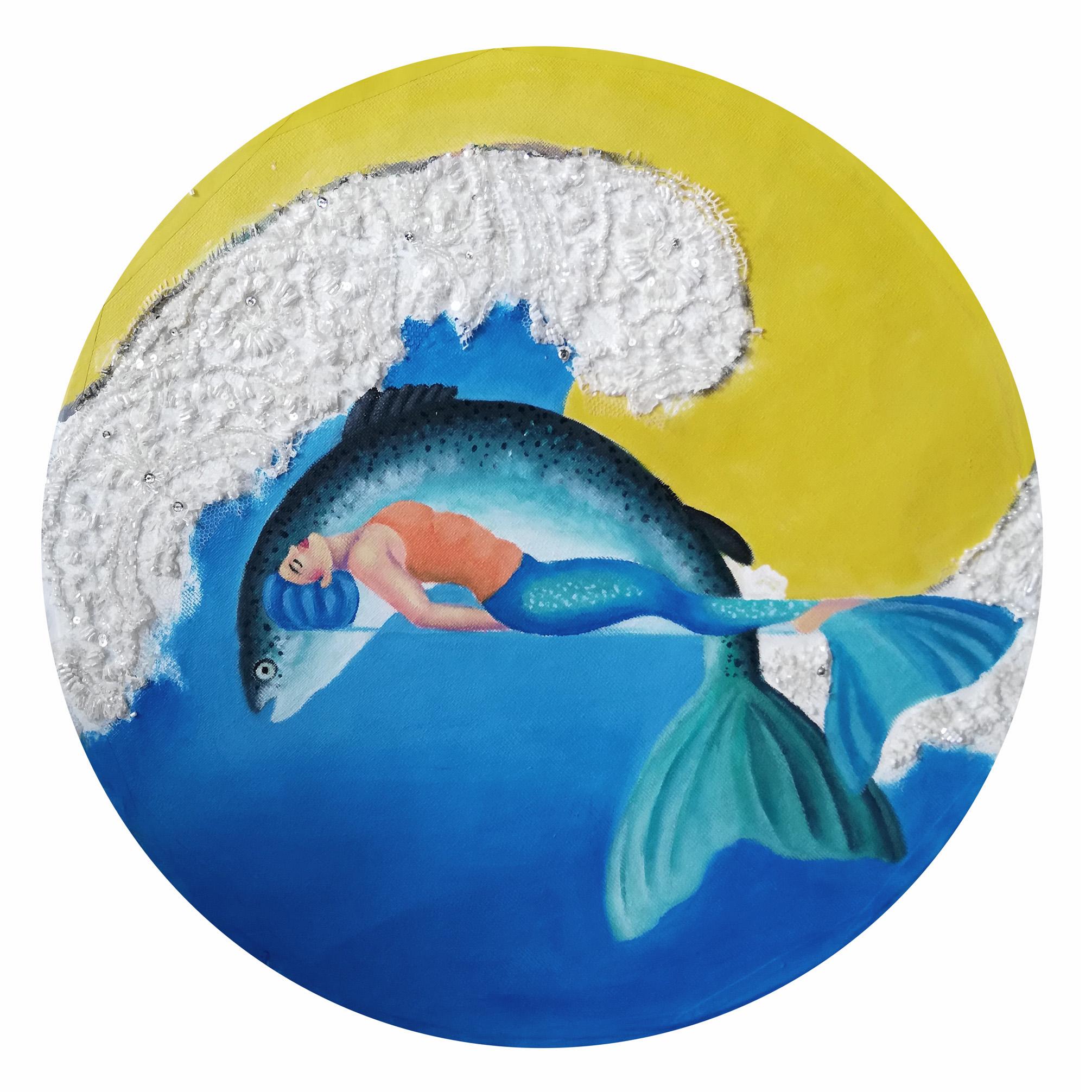 fish yoga posture