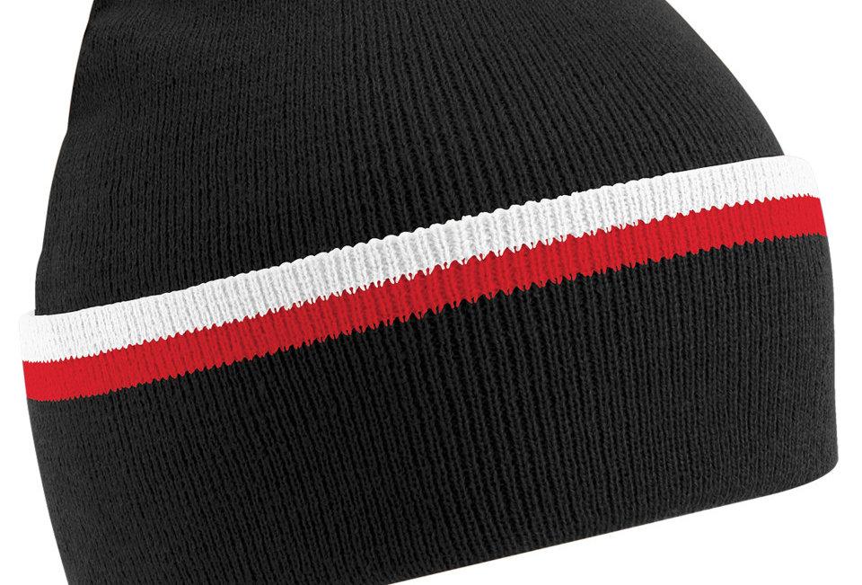 Team Wear Beanie hat black white red