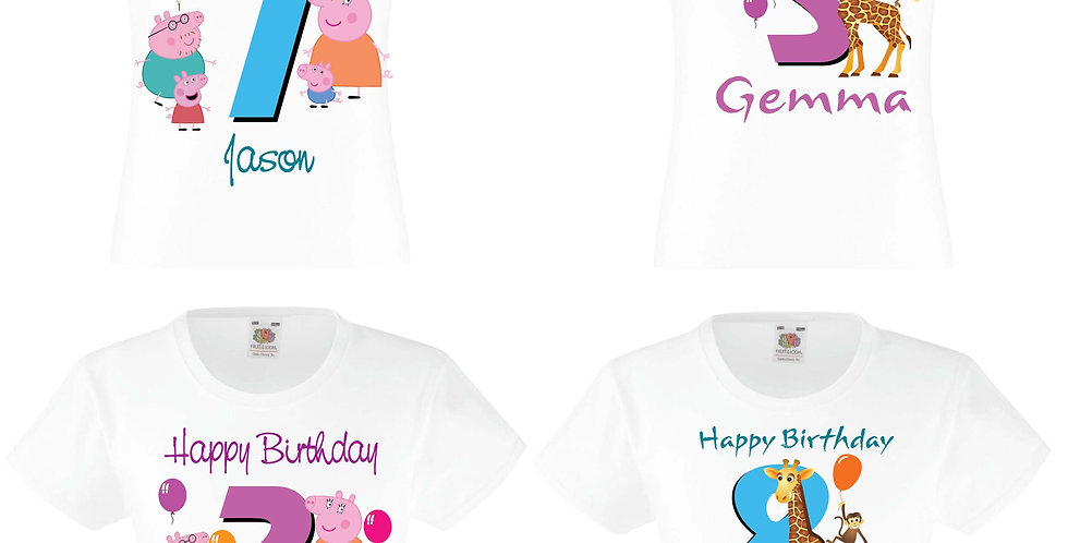 Personalised Birthday T-Shirts main Appare & Accessories