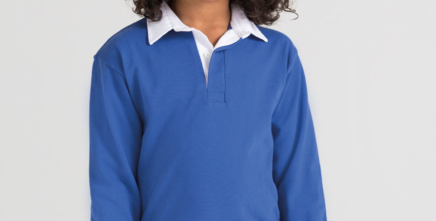 Front Row Kids Premium Rugby Shirt www.apparelandaccessories.co.uk