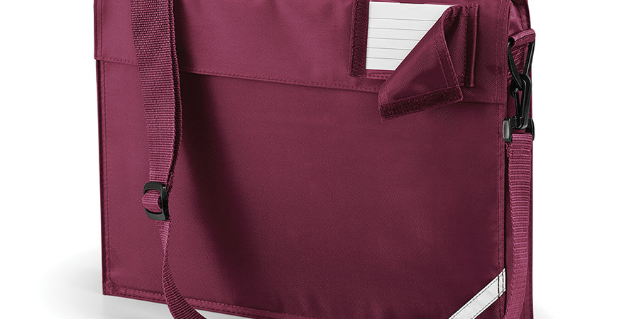 QD457 Junior School Book Bag Burgundy