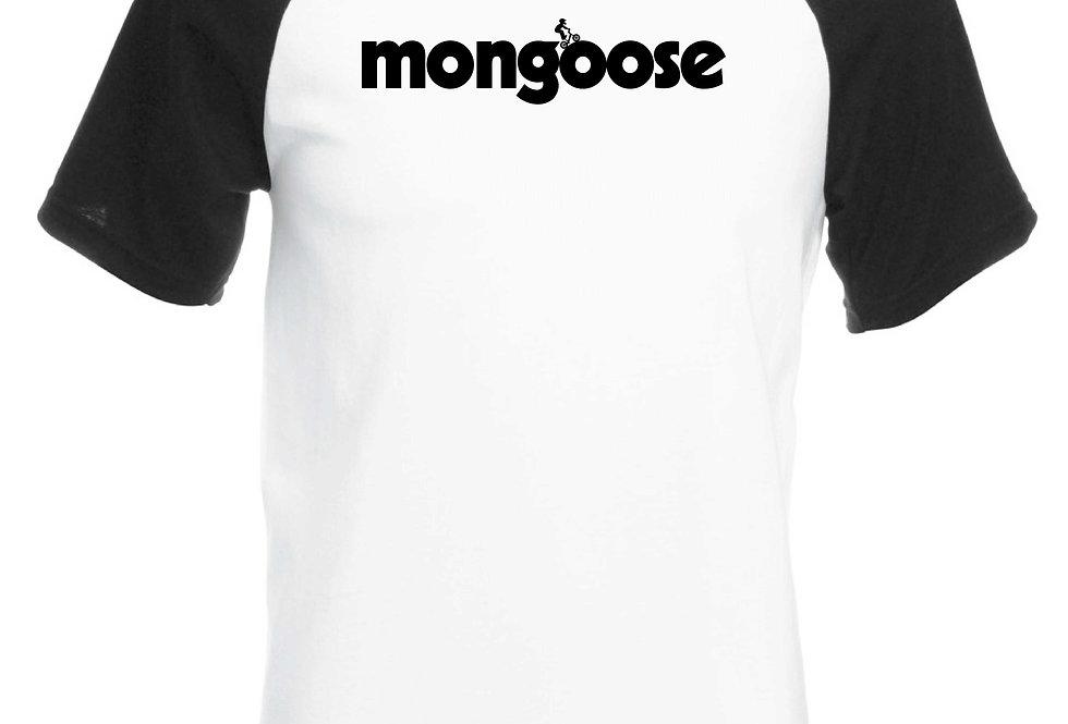 Mongoose Freestyle Retro Bmx -Mens Baseball T-Shirt Navy