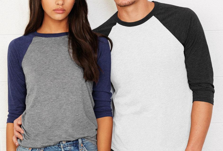 Bella+Canvas Baseball T-Shirt Unisex main apparel & Accessories
