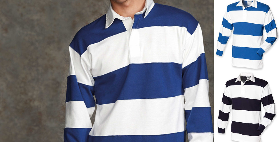 Front Row Sewn Stripe Rugby Shirt Main image