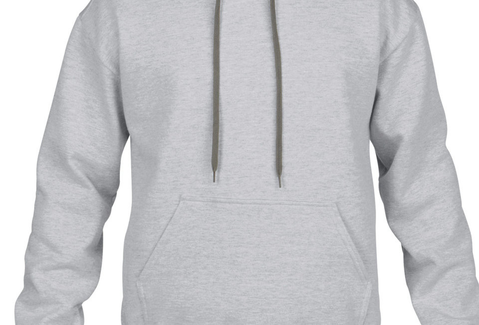 Mens Hooded Sweatshirt sports grey