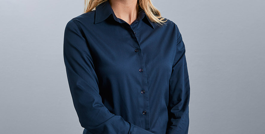 916F Russell Ladies Long Sleeve Classic  Shirt main image