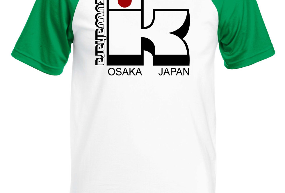 Kuwahara osaka Japan BMX Short Sleeve Baseball T-Shirt green