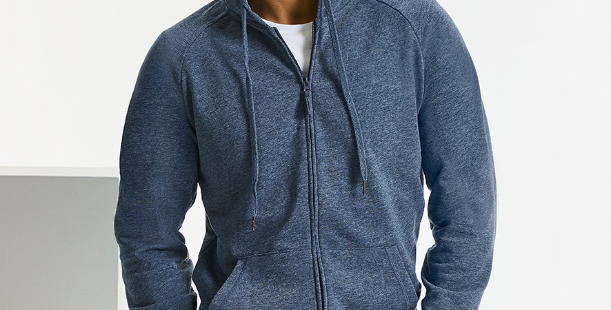284M Russell HD Zip Hooded Sweatshirt
