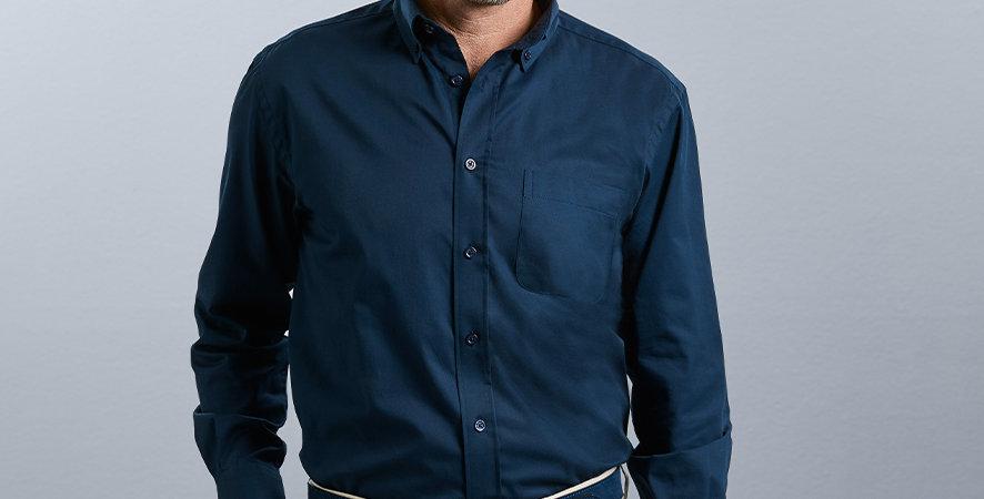 916M Russell Men's Long Sleeve Classic Twill Shirt main image