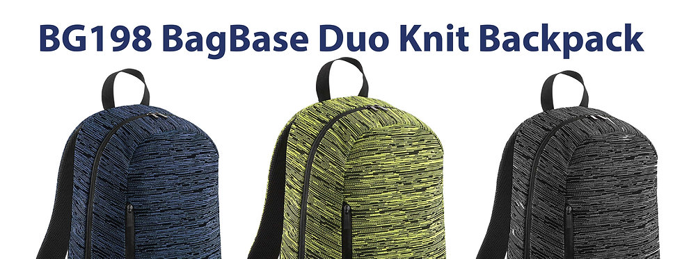 BG198 BagBase Duo Knit Backpack mix