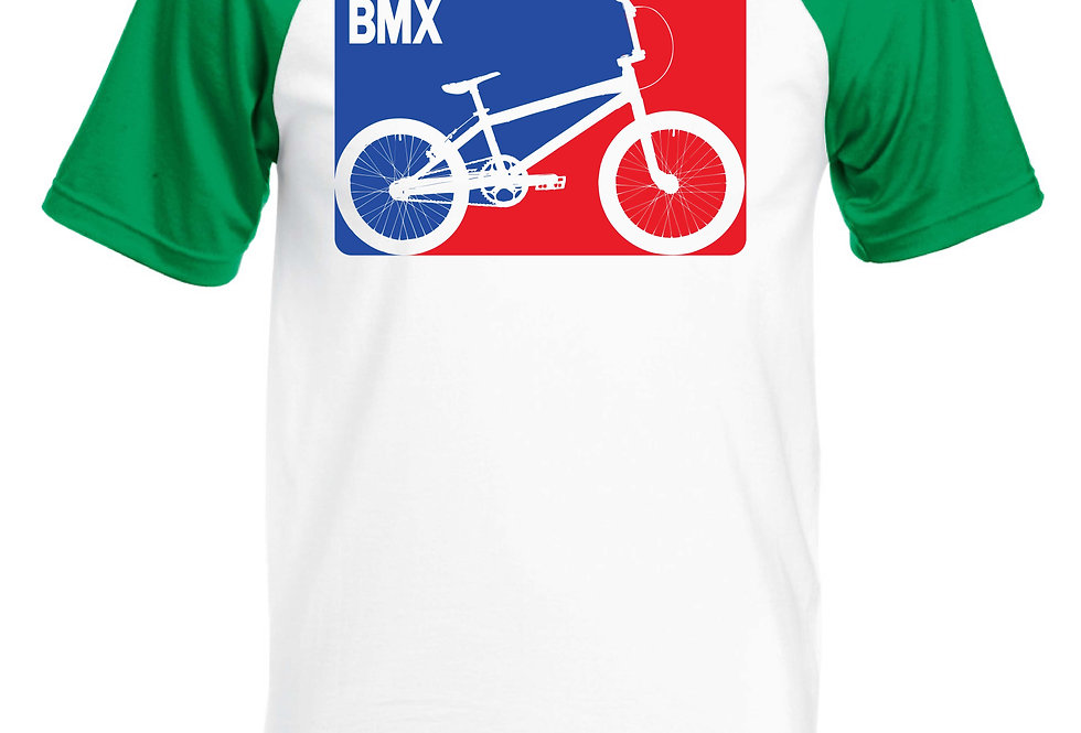 Vintage BMX Short Sleeve Baseball T-Shirt green