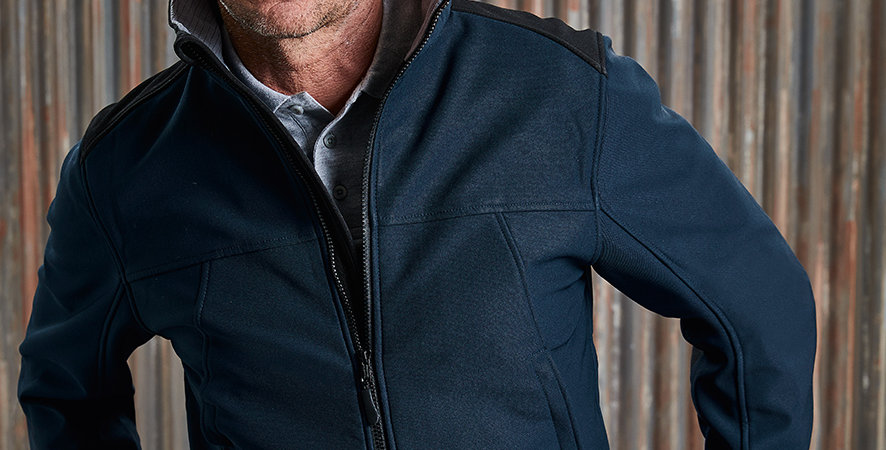 018M Russell Soft Shell Workwear Jacket