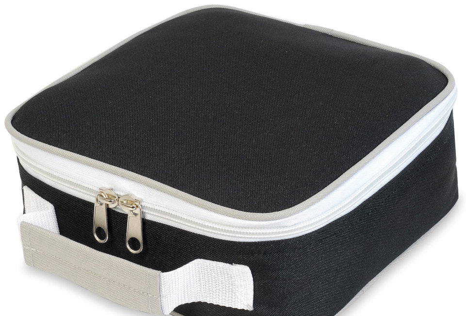 sh1808 Shugon Sandwich Lunchbox Cooler Bag School Lunch Box Boys Girls Unisex black
