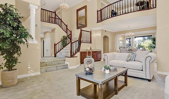 mortgage corona interior of a house