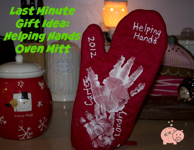 last minute gift idea helping hands oven mitt mending the piggy bank