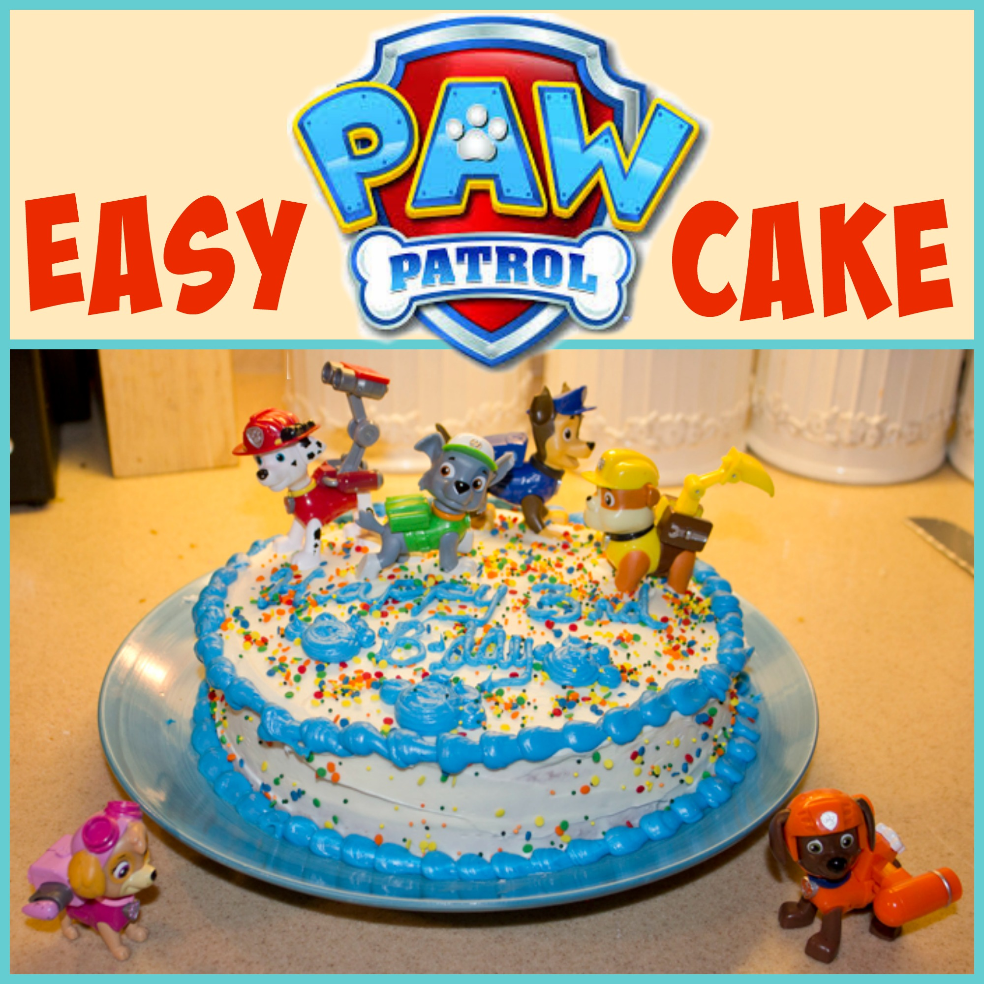 Easy Paw Patrol Cake Mending The Piggy Bank