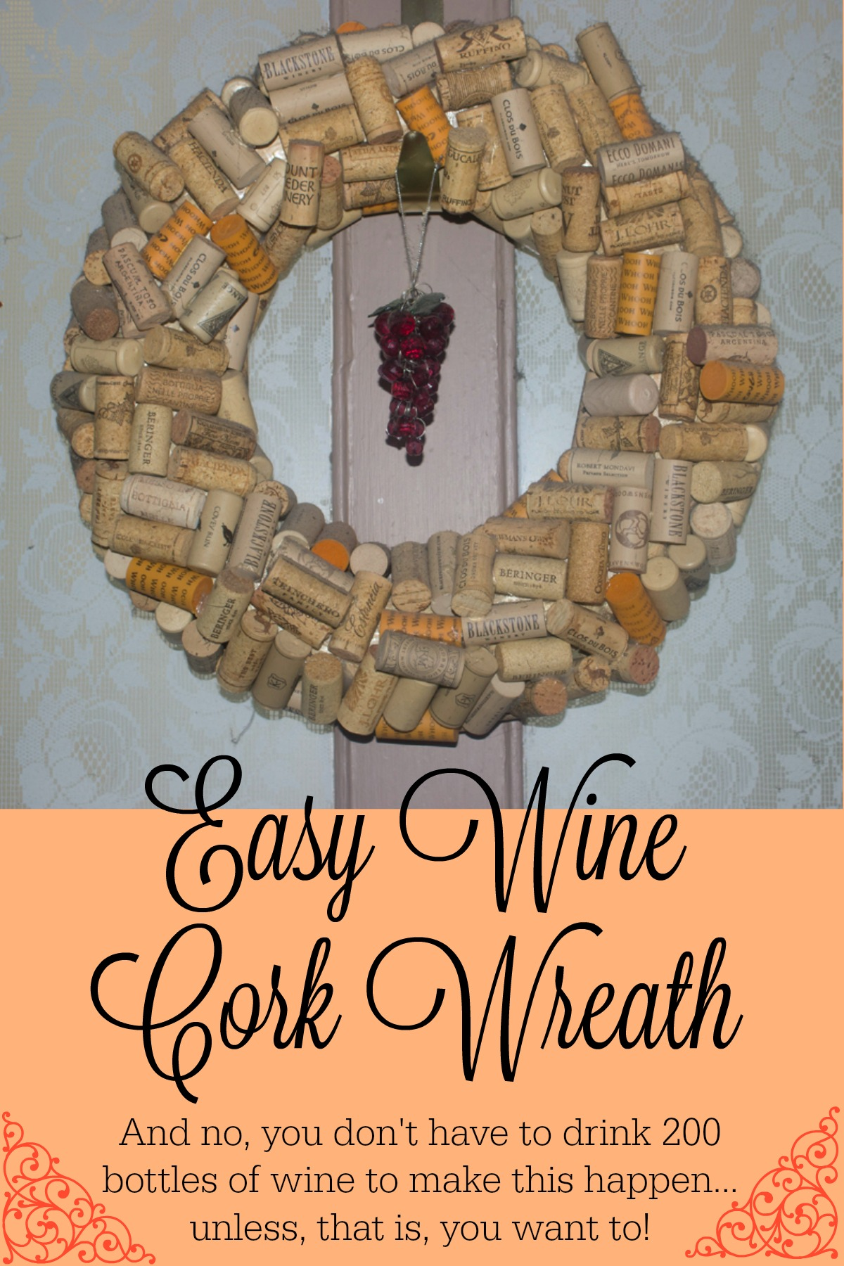 Easy Wine Cork Wreath Mending The Piggy Bank