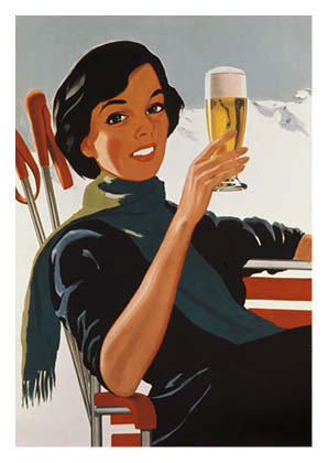 Bierplakat 1954, Grafik: A. Gfeller