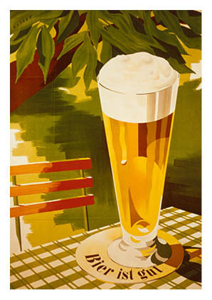 Bierplakat 1952, Grafik: Paul Gusset