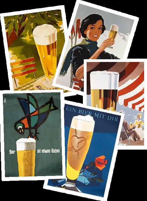 Bierplakate 5er-Set