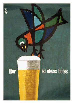 Bierplakat 1964, Grafik: Celestino Piatti