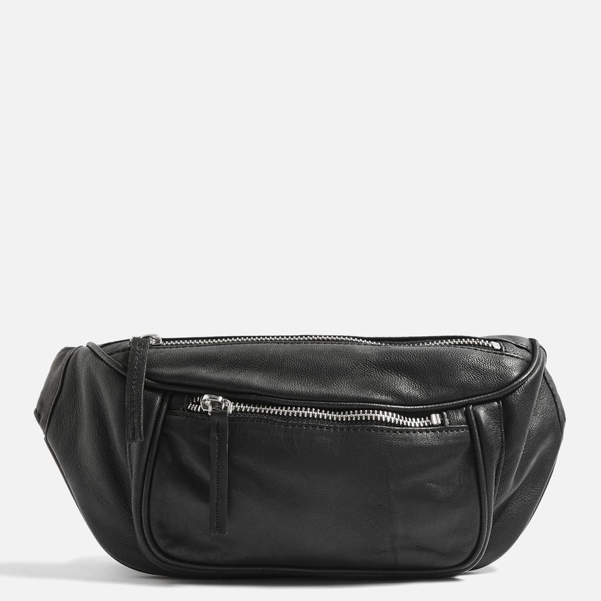 Topshop leather bum bag
