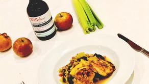 Cabbage, Apple, Celery and Cider Vinegar Chicken