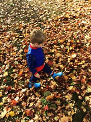 'Autumn leaves providea wonderful sensory experience for children'