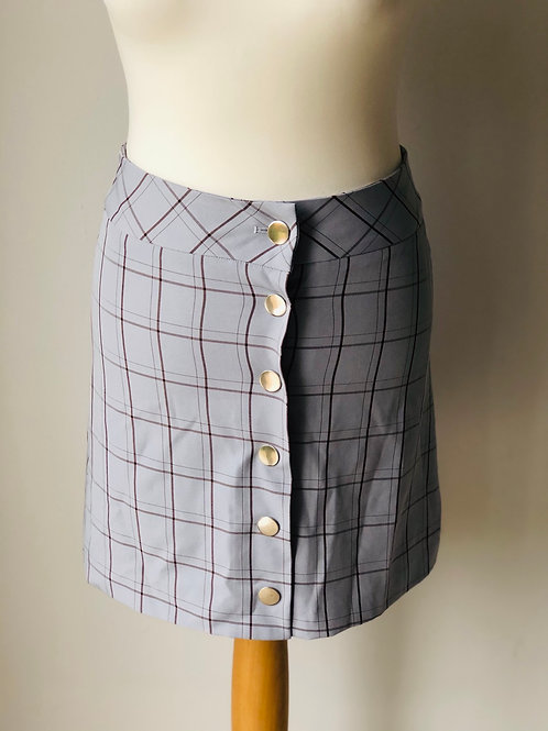 Blue check mini skirt by Forcast