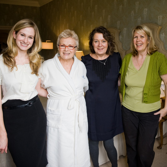 Photo shoot with Julie Walters