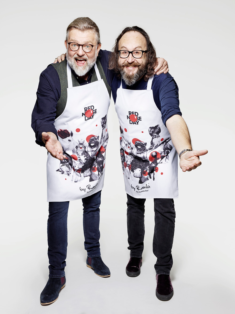 The Hairy Bikers model Limited Edition HomeSense Aprons