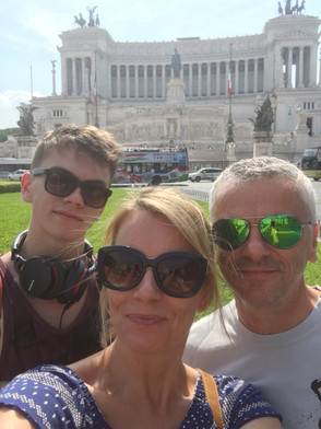 Visiting Rome with the family