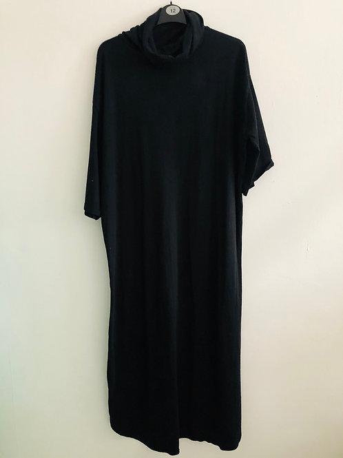 Black roll neck dress
