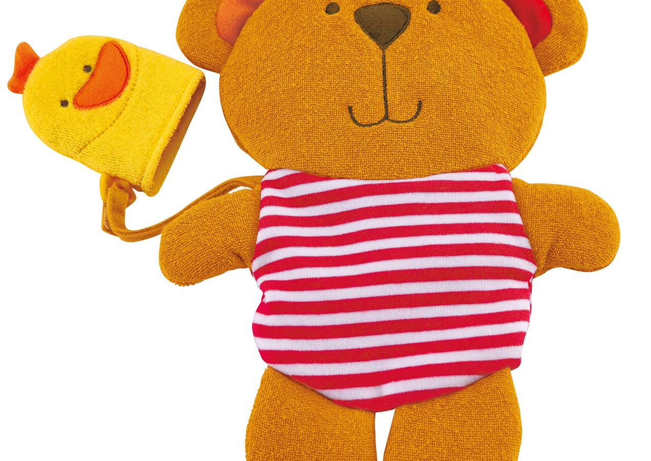 Teddy and Duck Bath Mitt Set