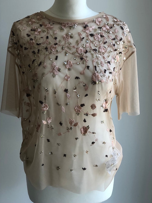 Sheer embellished top