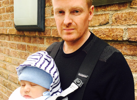 'The suggestion that wearing a baby carrier is emasculating won't put me off'