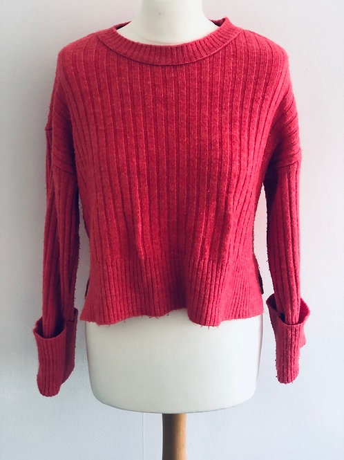 Coral cropped jumper