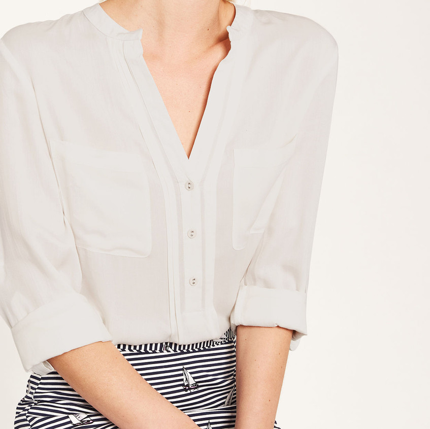Pintuck viscose shirt