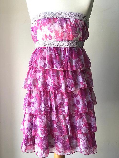 Floral frill babydoll dress