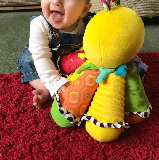Arthur with the Lamaze Octopus
