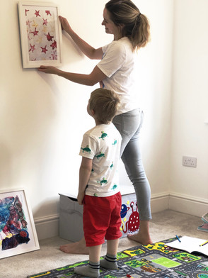 'Displaying your child's drawings can boost their confidence and self-esteem'