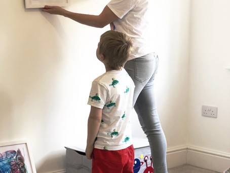 'Displaying your child's drawings canboost their confidence and self-esteem'