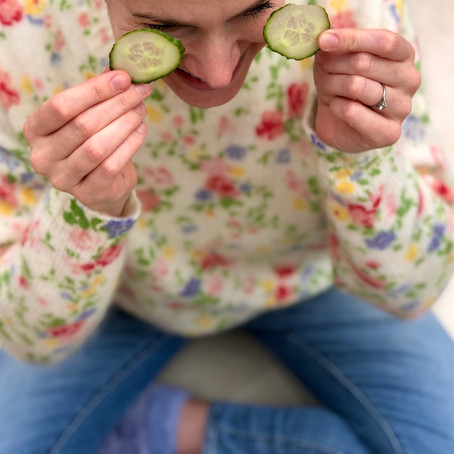 CUCUMBER EYE MASKS: The evidence is anecdotal... but we still love them!