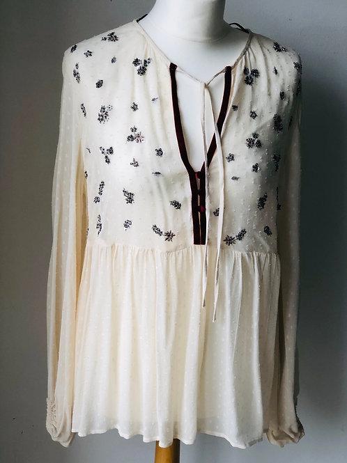 Sheer embellished top