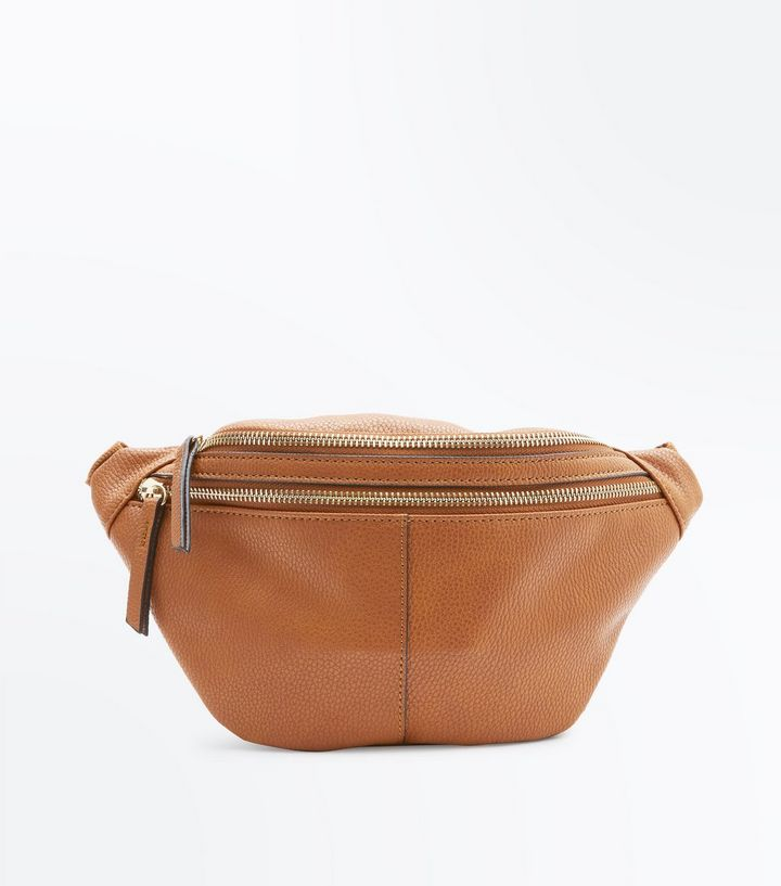 New Look Tan Double Pocket Bum Bag