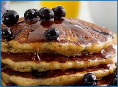 Blueberry Wholewheat Pancakes